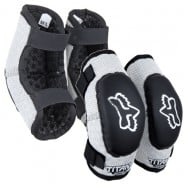 FOX YOUTH ELBOW GUARD PEEWEE TITAN BLACK/SILVER 2022 COLOUR - SIZE S-M (4-7 YEARS)