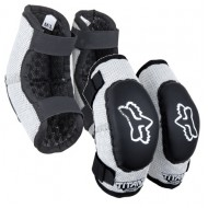 FOX YOUTH ELBOW GUARD PEEWEE TITAN BLACK/SILVER COLOUR - SIZE S-M (4-7 YEARS)