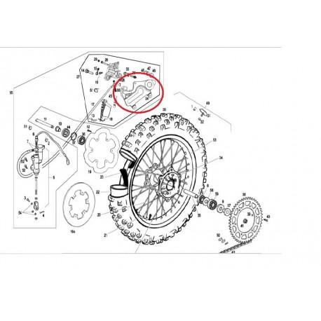 rear brake caliper support gas gas 01-08 be250022120 - motocrosscenter com