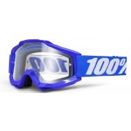 GOGGLE 100% ACCURI REFLEX BLUE W/ CLEAR LENS