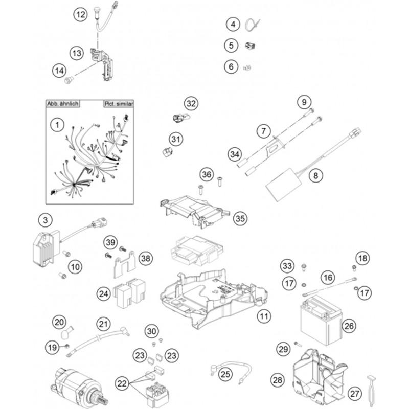 ref 25 - wiring harness battery 81311059050