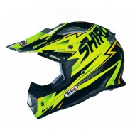 ((OFERTA))CASCO SHIRO MX-912 THUNDER AMARILLO FLUOR