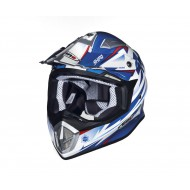 OFFER HELMET SHIRO MX-912 THUNDER BLUE/WHITE