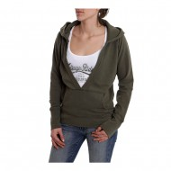 HUSQVARNA HOODIE LEGEND ARMY GREEN WOMAN SIZE XL
