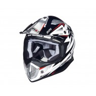 OUTLET CASCO SHIRO MX-912 THUNDER ROJO/BLANCO/NEGRO