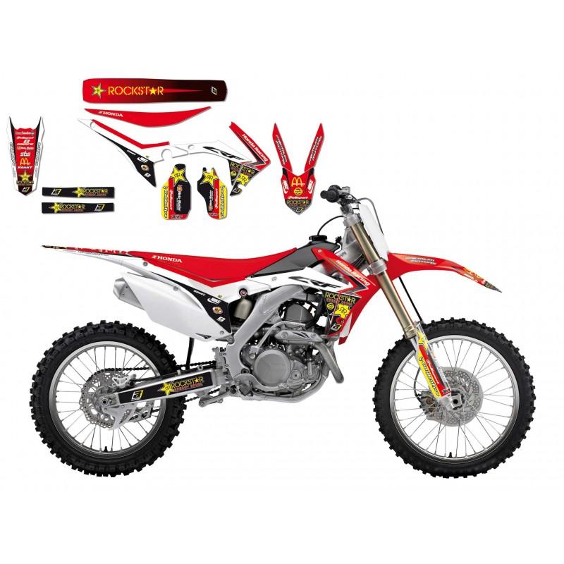 Sticker Graphics Kit With Seat Cover Rockstar Energy Gp Honda Crf 250r 14 16 78177004 8145r8 Motocrosscenter Com