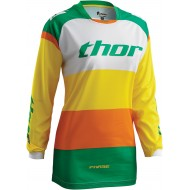 OFFER THOR PHASE BONNIE GREEN / YELLOW 2016 WOMAN JERSEY