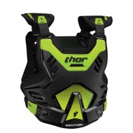 THOR SENTINEL GP PROTECTOR CHEST BLACK / FLUO GREEN