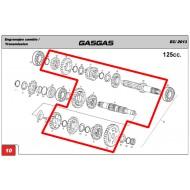 ((OFERTA))CAJA DE CAMBIOS COMPLETA GAS GAS EC 125 2002-2015