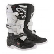 ALPINESTARS YOUTH TECH 7 S BOOTS 2021 BLACK / WHITE COLOUR