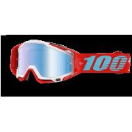 MOTOCROSS GOGGLE 100% RACECRAFT KEPLER MIRROR BLUE