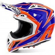 OFFER OFF ROAD HELMET AIROH AVIATOR 2.2 EDGE BLUE GLOSS