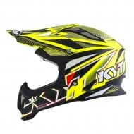 OFFER HELMET OFF ROAD KYT STRIKE EAGLE STRIPE YELLOW FLUO
