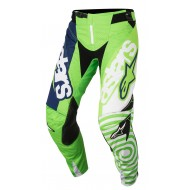 OFFER PANT ALPINESTARS TECHSTAR VENOM COLOR FLUO GREEN / WHITE / DARK BLUE