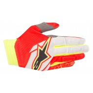OFFER GLOVE ALPINESTARS AVIATOR COLOR RED / WHITE / FLUO YELLOW