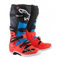 OFFER ALPINESTARS TECH 7 BOOTS COLOR FLUO RED / CYAN / GRAY / BLACK