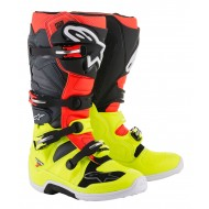 ALPINESTARS 2018 TECH 7 BOOTS COLOR FLUO YELLOW / FLUO RED / GRAY / BLACK