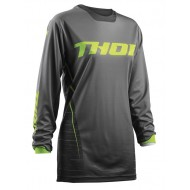 THOR WOMAN JERSEY S8W PULSE DASHE OFFROAD GRAY/LIME 2018
