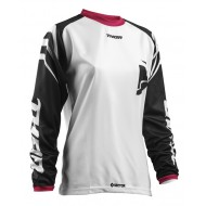 OFFER THOR WOMAN JERSEY S8W SECTOR ZONES OFFROAD WHITE/BLACK 2018
