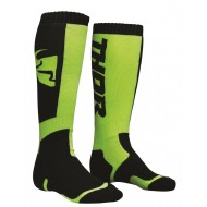 THOR YOUTH SOCK MX 2020 BLACK/LIME - ONE SIZE