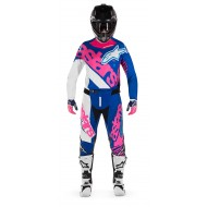 OFFER COMBO ALPINESTARS YOUTH RACER VENOM COLOR BLUE / FLUO PINK / WHITE