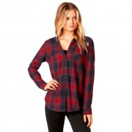 CAMISA FOX DENY FLANNEL COLOR ROJO OSCURO