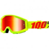 GOGGLE 100% STRATA FURNACE MIRROR RED LENS