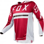 OUTLET CAMISETA FOX FLEXAIR PREEST 2018 COLOR ROJO OSCURO