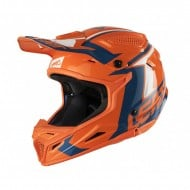 CASCO LEATT GPX 4.5 V20 COLOR NARANJA/AZUL