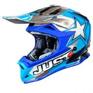CASCO INFANTIL JUST1 J32 MOTO X AZUL