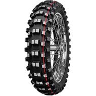REAR TIRE MITAS C18 100/90-19 57M - RED LINE