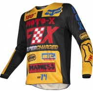 OFFER FOX YOUTH 180 CZAR JERSEY 2019 COLOR BLACK / YELLOW
