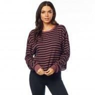 OFFER FOX WOMEN STRIPED OUT LS THERMAL CROP COLOR ROSE