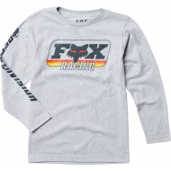 OFFER FOX YOUTH THROWBACK LS TEE COLOR LIGHT HEATHER GREY