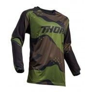 OFFER THOR TERRAIN OFFROAD JERSEY 2020 GREEN CAMO COLOUR
