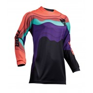 OFFER THOR WOMENS PULSE DEPTHS S9W OFFROAD JERSEY 2019 BLACK/CORAL