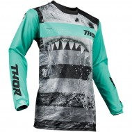 OFFER THOR YOUTH PULSE SAVAGE JAWS S9Y OFFROAD JERSEY 2019 MINT/BLACK