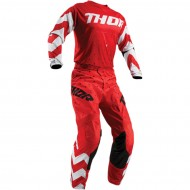 OUTLET COMBO THOR PULSE STUNNER S9 OFFROAD 2019 ROJO / BLANCO