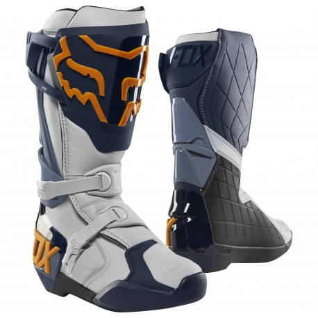 FOX COMP R BOOTS 2019 COLOR NAVY ORANGE 22959-425 - MotocrossCenter.com 744df2c7ca9