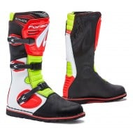 BOTAS FORMA TRIAL/TRAIL BOULDER COLOR BLANCO / ROJO / FLUOR