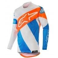 ALPINESTARS RACER TECH ATOMIC JERSEY 2019 COLOR COOL GRAY / MID BLUE / ORANGE FLUO