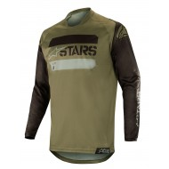 OFFER ALPINESTARS RACER TACTICAL JERSEY COLOR BLACK / MILITARY GREEN