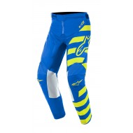 OFFER YOUTH ALPINESTARS RACER BRAAP PANTS 2019 COLOR BLUE / YELLOW FLUO