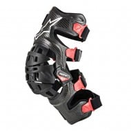 ALPINESTARS BIONIC 10 CARBON KNEE BRACE - RIGHT 2021 BLACK / RED COLOUR
