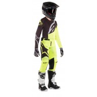 OFFER YOUTH COMBO ALPINESTARS RACER FACTORY 2019 COLOR BLACK / YELLOW FLUO