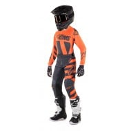 OFFER YOUTH COMBO ALPINESTARS RACER BRAAP 2019 COLOR ANTHRACITE / ORANGE FLUO