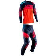 OUTLET COMBO LEATT GPX 4.5 2019 COLOR TINTA / NARANJA