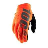 100% YOUTH GLOVES BRISKER 2019 COLOR ORANGE FLUO / BLACK