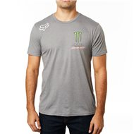 CAMISETA MANGA CORTA FOX MONSTER PRO CIRCUIT COLOR GRIS JASPEADO