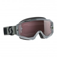 OFFER SCOTT HUSTLE MX GOGGLE COLOR GREY - SILVER CHROME WORKS LENS